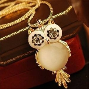 🦋🦋 Gold Long Chain Owl Necklace